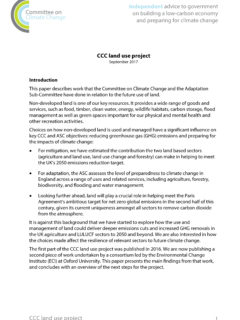 Committee on Climate Change - Land use project